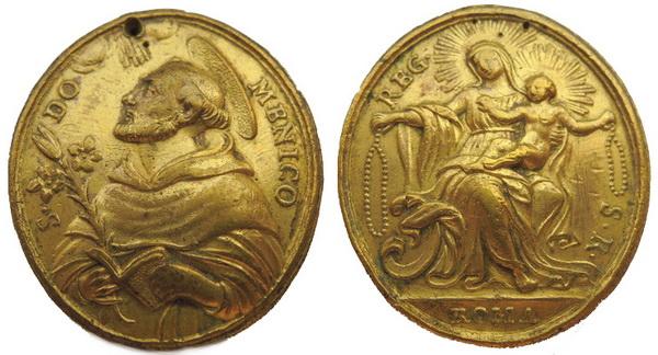 Recopilación medallas de Santo Domingo de Guzmán. Notas iconográficas. Tesaym14