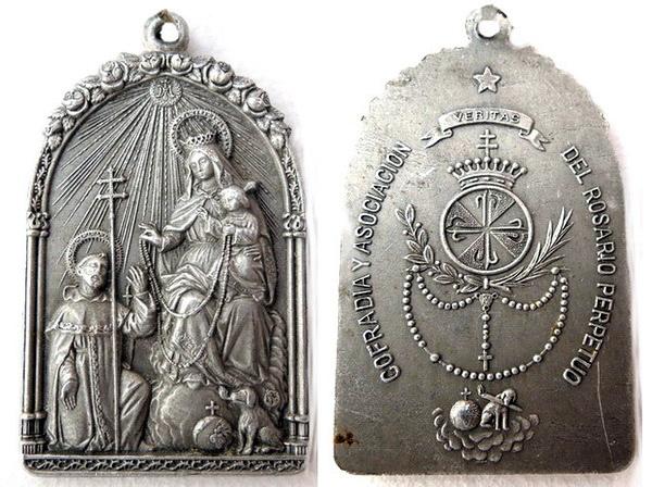 Recopilación medallas de Santo Domingo de Guzmán. Notas iconográficas. Tesaym17