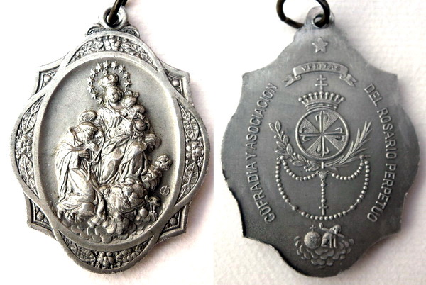 Recopilación medallas de Santo Domingo de Guzmán. Notas iconográficas. Tesaym18