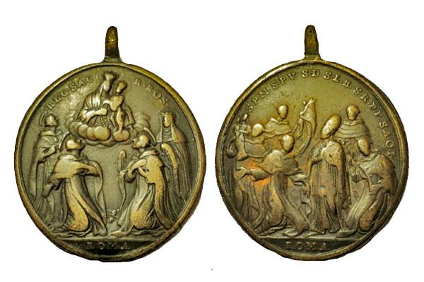 Recopilación medallas de Santo Domingo de Guzmán. Notas iconográficas. V_rosa10