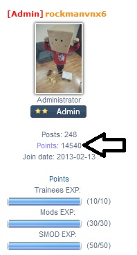 What Points System in Forum can do ? Point10