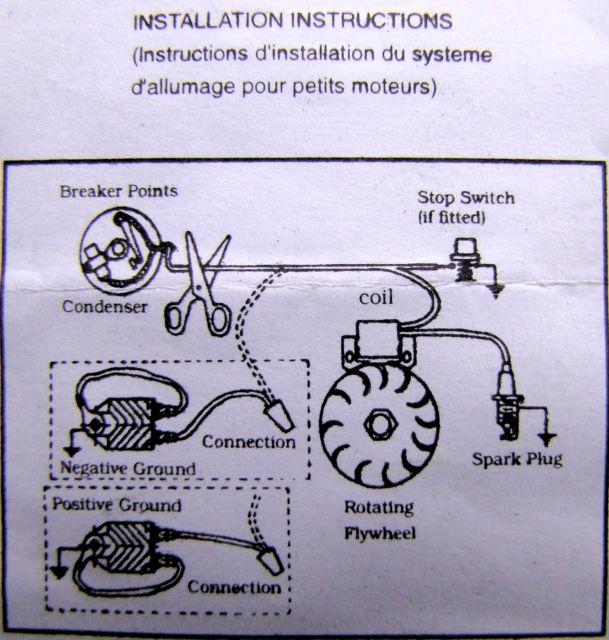 Rupteur et condensateur pour motofaucheuse Motostandards (1954) Z3o7og10