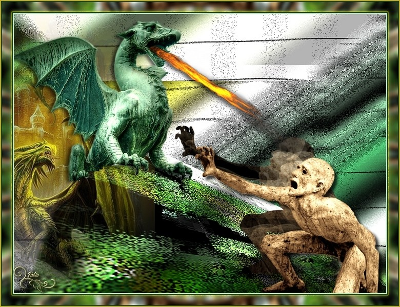 Le dragon au prise avec le zombi Dragon10