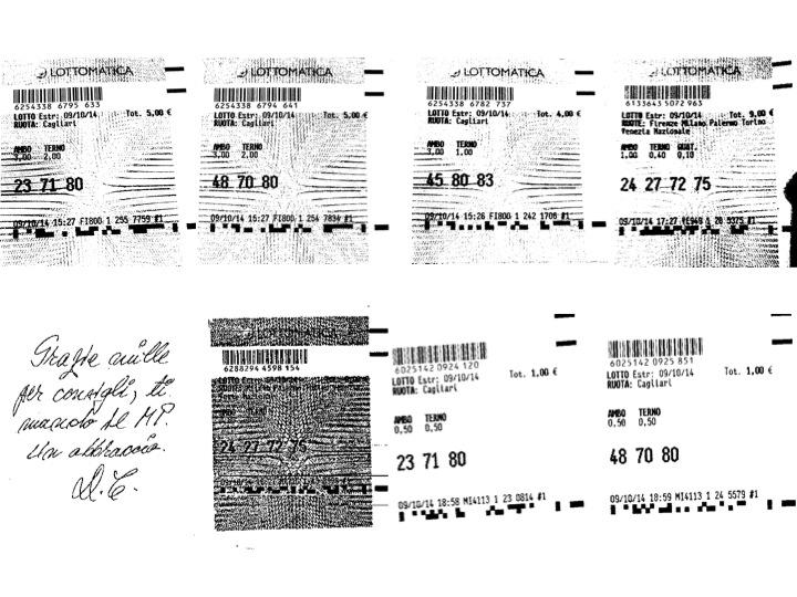 GIUSEPPE CHIARAMIDA | #CERBERO - AMBO MILIONARIO 62-88 SU NAZIONALE Diapo173
