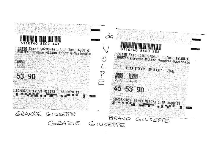 GIUSEPPE CHIARAMIDA | TERNO SECCO MILIONARIO 45-53-90 SU NZ VINTO COL NUOVO METODO ''TERNO MONDIALE'' Diapos36