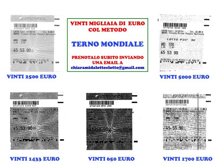 GIUSEPPE CHIARAMIDA | TERNO SECCO MILIONARIO 45-53-90 SU NZ VINTO COL NUOVO METODO ''TERNO MONDIALE'' Diapos41