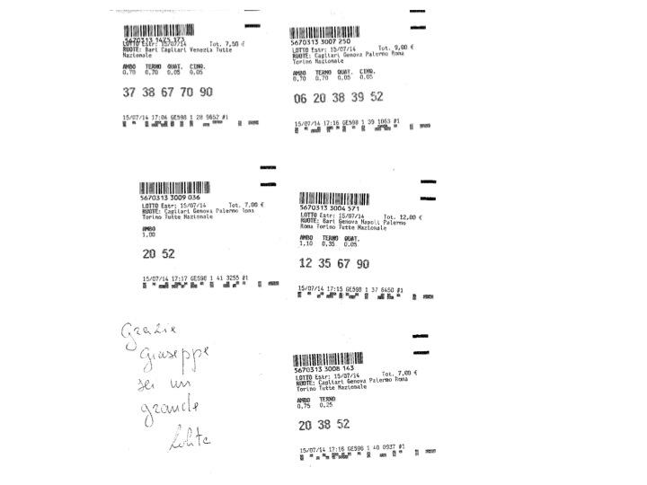 GIUSEPPE CHIARAMIDA | GIOVEDÌ 17 LUGLIO - (37/2014) - VINTO AMBO 8-29 SU BARI Diapos62