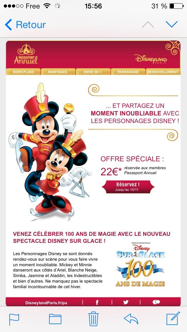 Bon plan Disney sur glace passeport dream Image65