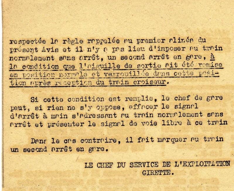 signalisation en voie unique  avant 1951 T01810