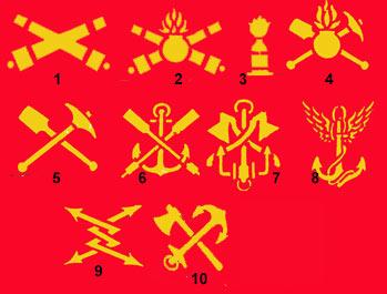 Les pattes d'épaules de l'armée Russe Rusarm12