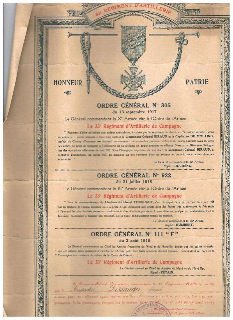 36 rir allemand vs 33 RAC français 1914/1918 00914