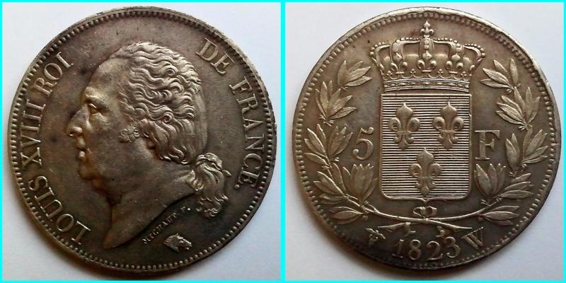 Ecu de cinq francs 1815 W 5_fran10