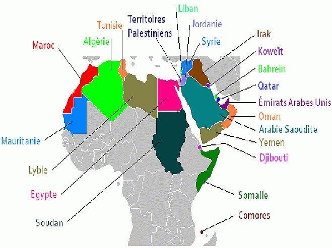 خريطة الدول العربية  Arab countrys map Mimoun11
