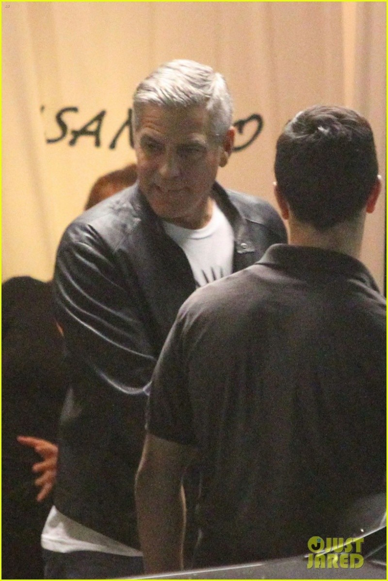 George Clooney Out To Dinner in LA Sunday Night  19 October 2014 Alt312