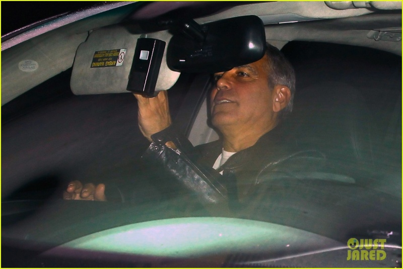 George Clooney Out To Dinner in LA Sunday Night  19 October 2014 Alt410