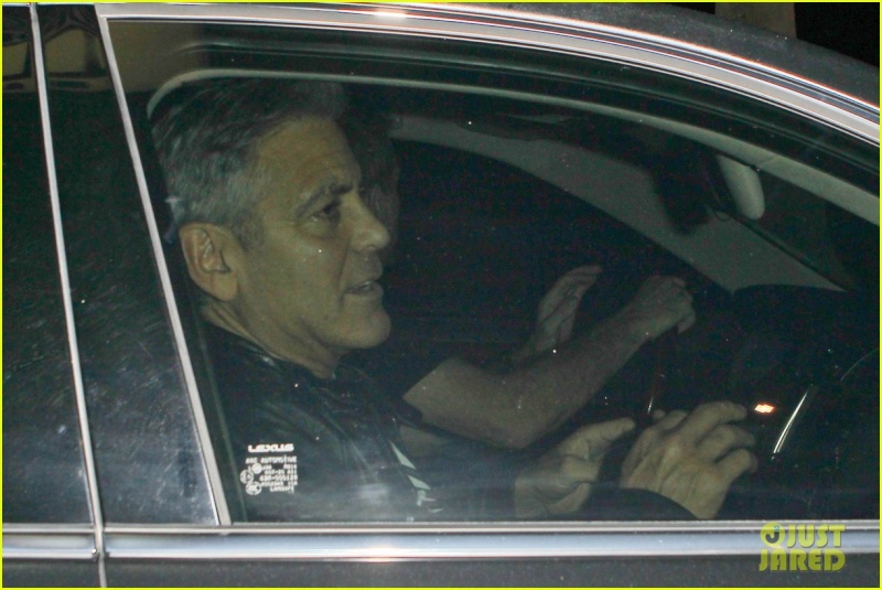 George Clooney Out To Dinner in LA Sunday Night  19 October 2014 Alt510