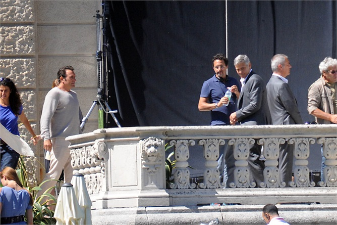 George Clooney and JEAN DUJARDIN doing a new NESPRESSO SPOT Amalll17