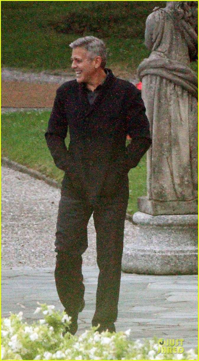 George Clooney and Grant Heslov at Villa D'Este yesterday in Como Ass1210