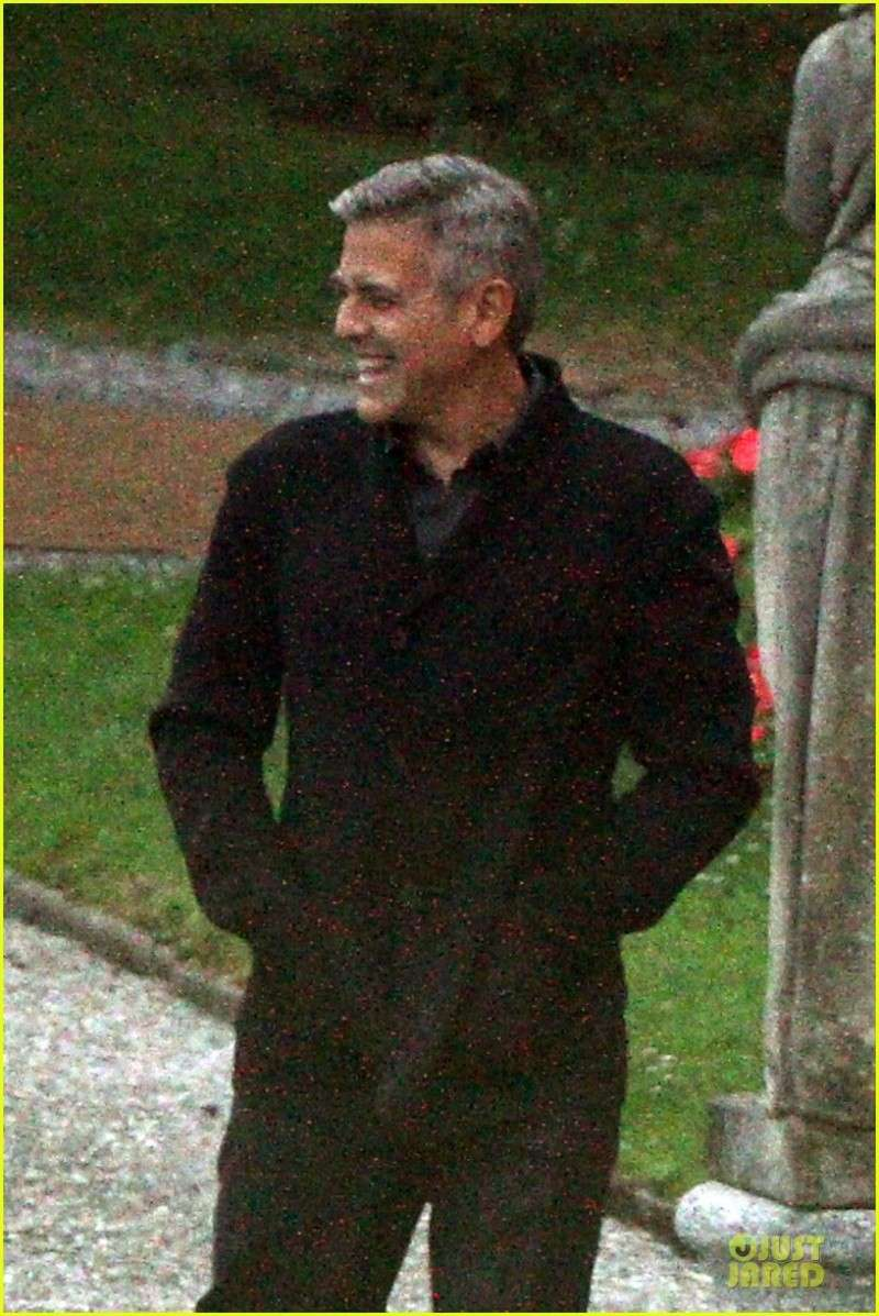 George Clooney and Grant Heslov at Villa D'Este yesterday in Como Ass210