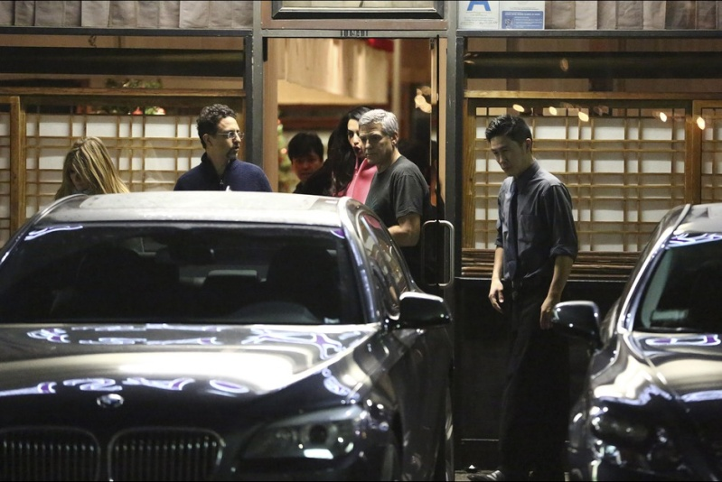George and Amal Clooney eat at Asanebo again Auto11