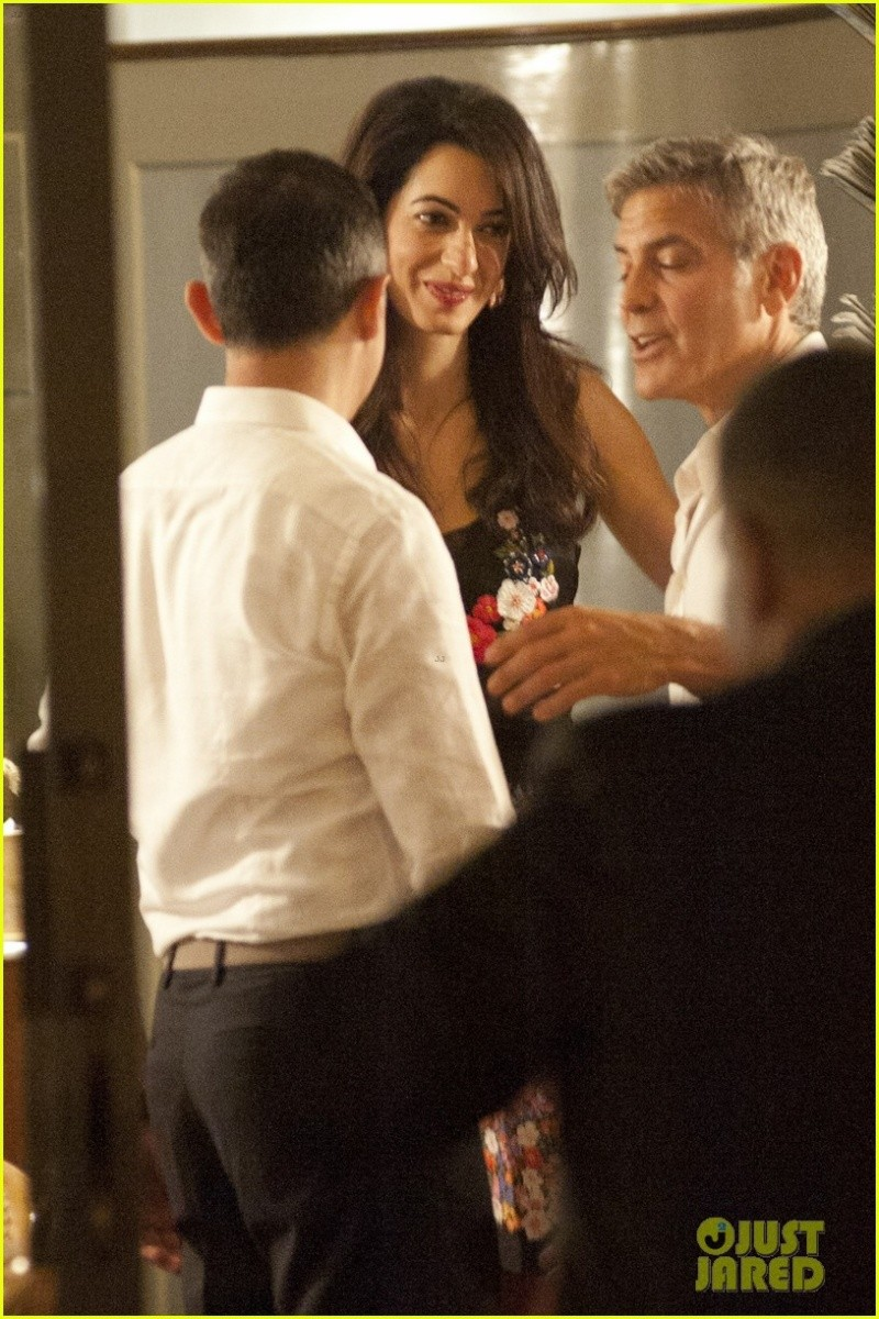George Clooney & Fiancee Amal Alamuddin Step Out for Romantic Dinner at Harry's Bar! Bar1310