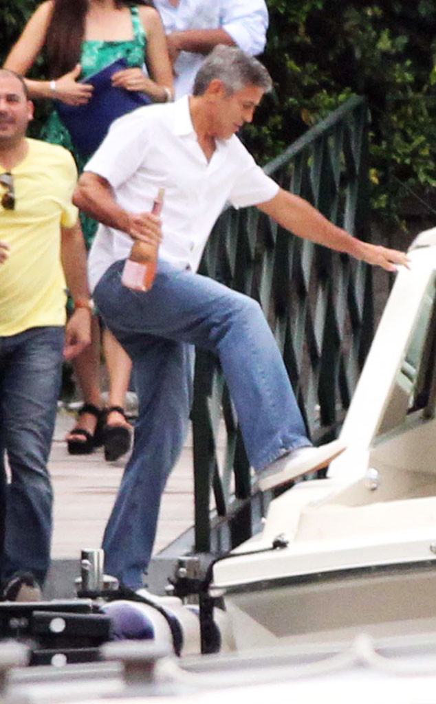 George Clooney on a yacht Boat11