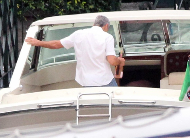 George Clooney on a yacht Bot1010