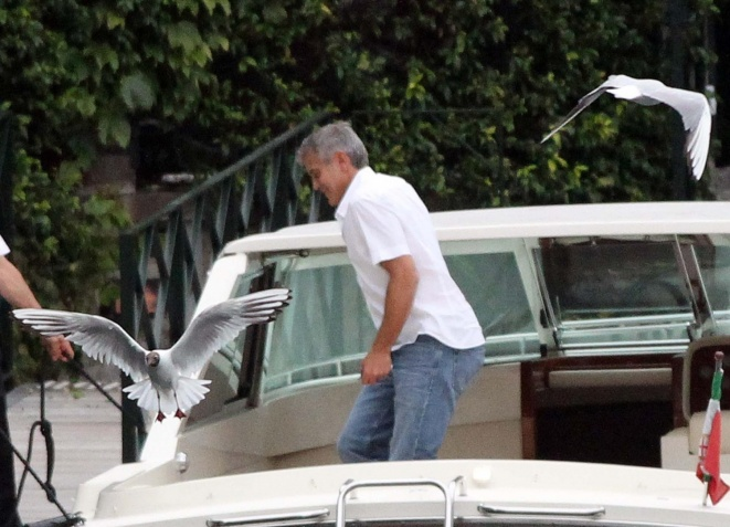 George Clooney on a yacht Bot1210