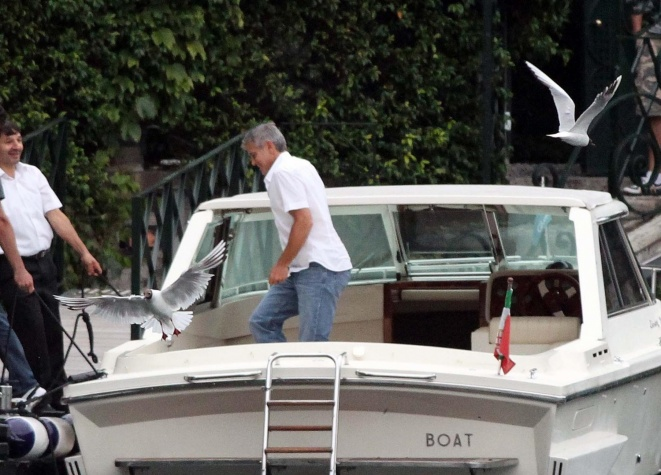 George Clooney on a yacht Bot410