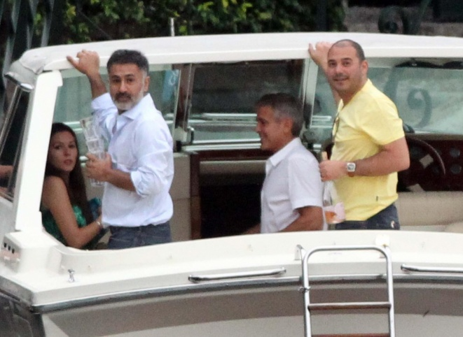 George Clooney on a yacht Bot810