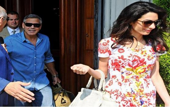 George Clooney leaving Florence Brille10
