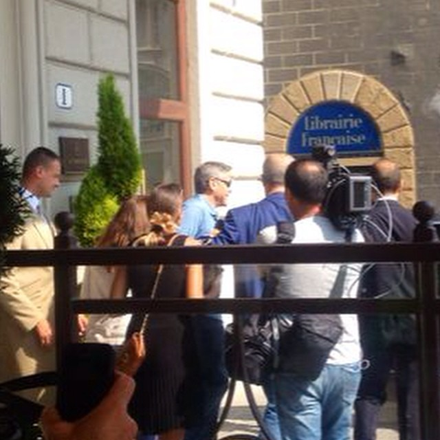 George Clooney leaving Florence Buu10