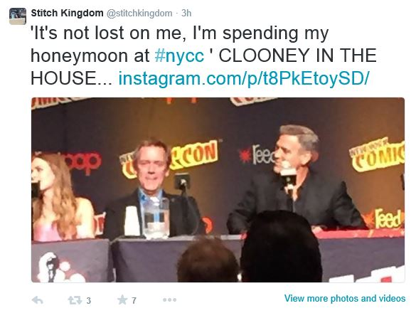 George Clooney Tomorrowland visit ComicCon New York in October Com2310