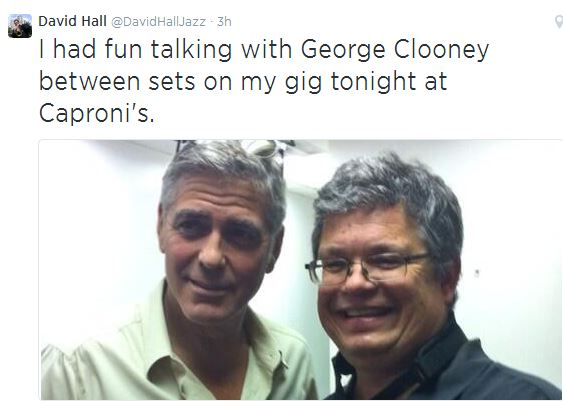 George Clooney attended the concert of David Hall in Kentucky Concer10