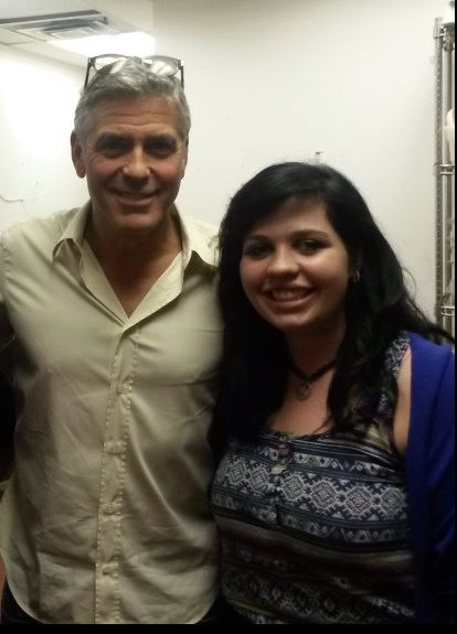 George Clooney attended the concert of David Hall in Kentucky Concer13