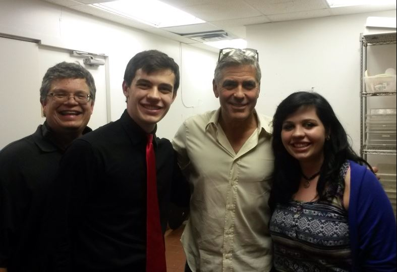 George Clooney attended the concert of David Hall in Kentucky Concer14