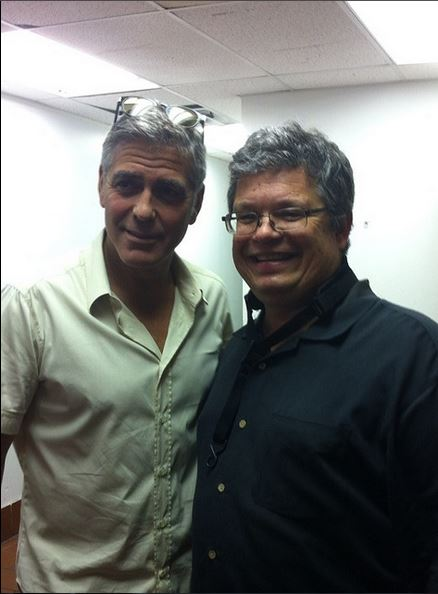 George Clooney attended the concert of David Hall in Kentucky Concer15