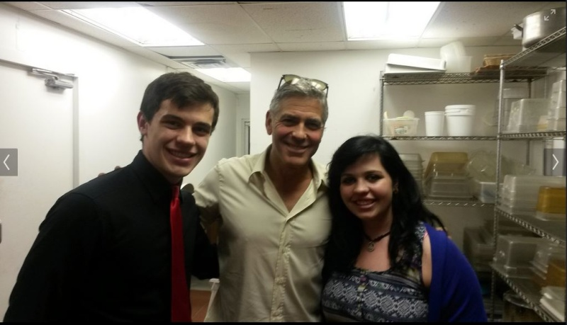 George Clooney attended the concert of David Hall in Kentucky Concer16