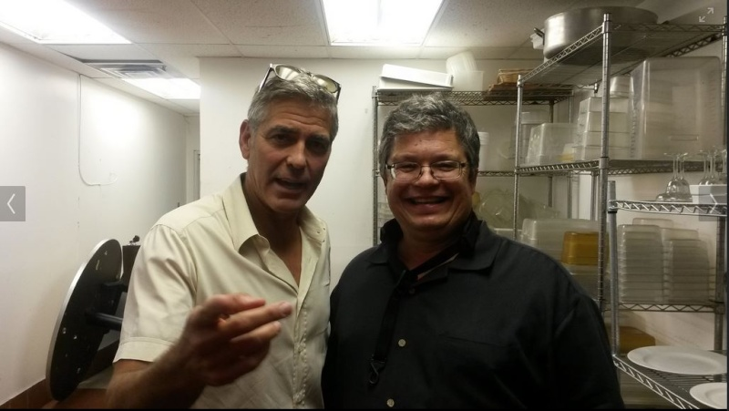 George Clooney attended the concert of David Hall in Kentucky Concer17
