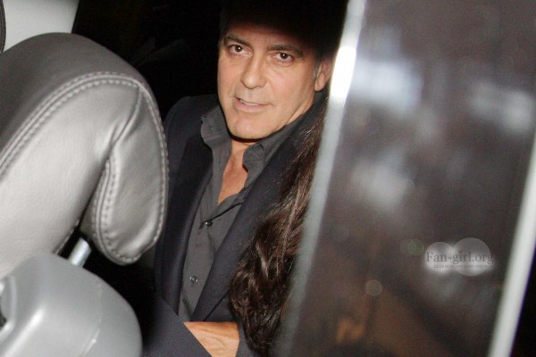 George Clooney & Fiancee Amal Alamuddin Make It a Family Night in Italy! Dinner15