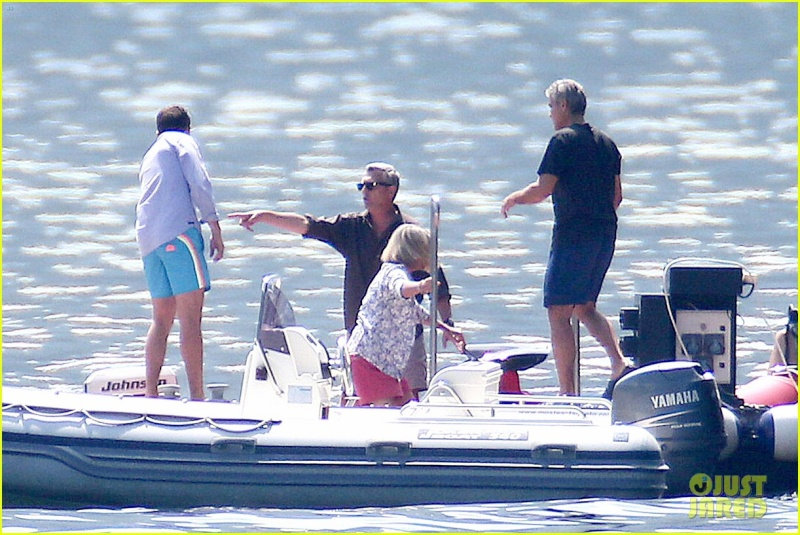 George Clooney on the Dock at Lake Como Dock310