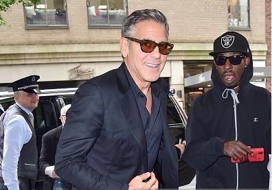 George Clooney at the Carlyle hotel NYC  Get315