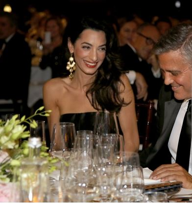 George Clooney and Amal to visit the Celebrity Fight Night Foundation in Florence Get410