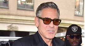George Clooney at the Carlyle hotel NYC  Get414