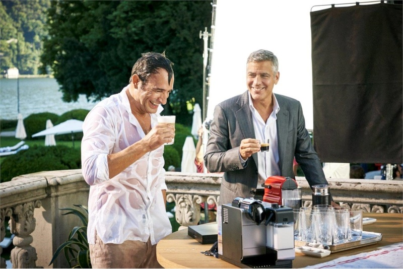 George Clooney and JEAN DUJARDIN doing a new NESPRESSO SPOT - Page 4 It210