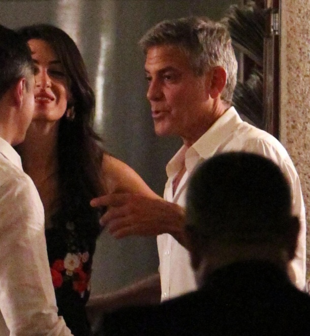 George Clooney & Fiancee Amal Alamuddin Step Out for Romantic Dinner at Harry's Bar! - Page 2 Kim1010