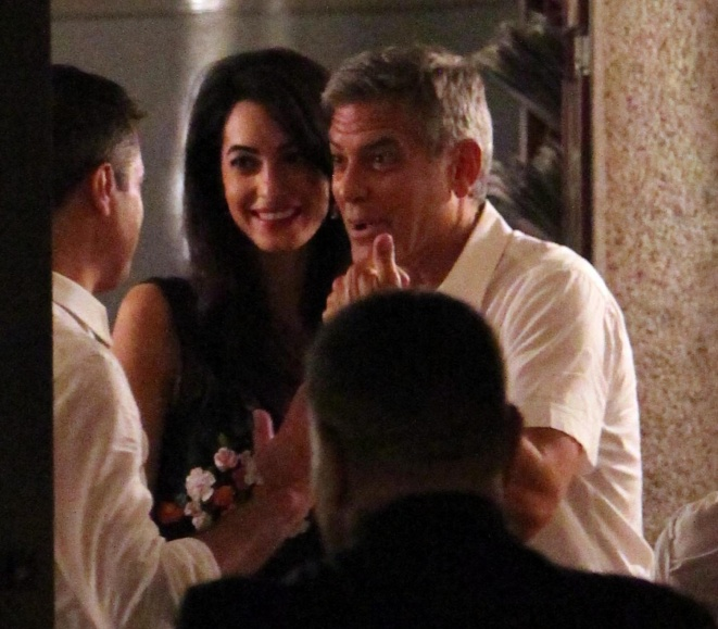 George Clooney & Fiancee Amal Alamuddin Step Out for Romantic Dinner at Harry's Bar! - Page 2 Kim1110