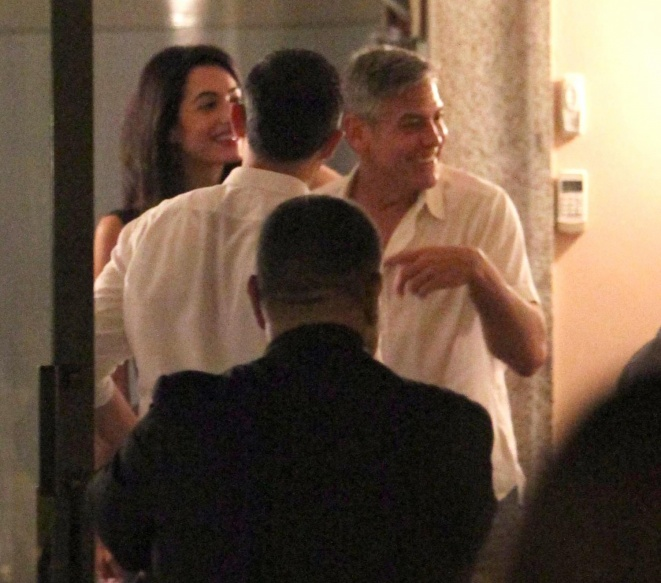 George Clooney & Fiancee Amal Alamuddin Step Out for Romantic Dinner at Harry's Bar! - Page 2 Kim1210