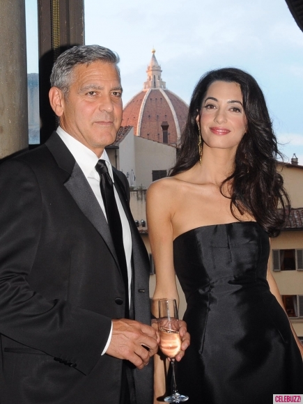 George Clooney and Amal to visit the Celebrity Fight Night Foundation in Florence - Page 4 Kiss311