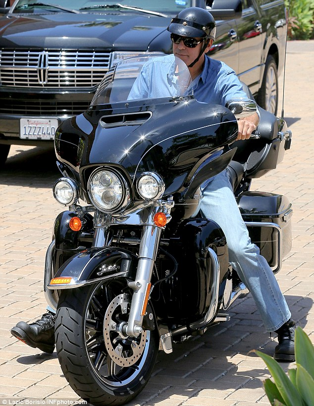 George Clooney and Rande Gerber at Cafe Habana More10